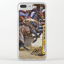 The Release - Rodeo Bronco Riding Clear iPhone Case