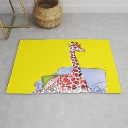 animals in chairs #10 Giraffe Rug