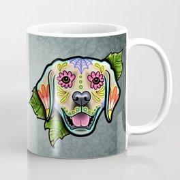 Golden Retriever - Day of the Dead Sugar Skull Dog Coffee Mug