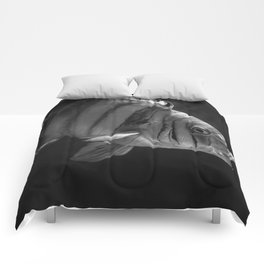 Clown Fish (Black and White) Comforters