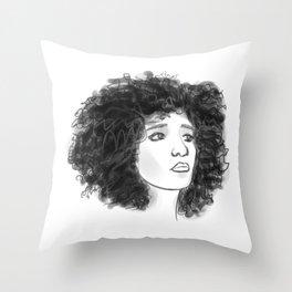 afro lady Throw Pillow