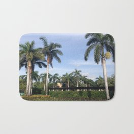 palm trees on a summer afternoon Bath Mat