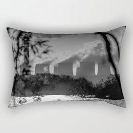 Power plants over a lake Rectangular Pillow