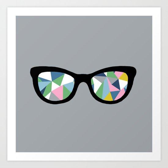 Abstract Eyes Art Print