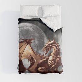 Mystical Dragon and Moon Fantasy Design Comforters