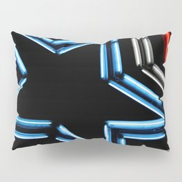 Neon Star Pillow Sham