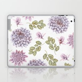 Lavender Rose Garden Floral Pattern Laptop & iPad Skin