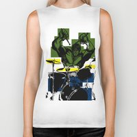 drums Biker Tanks featuring Smash the Drums... by Doctorductape