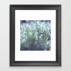 blue and green and dewy Framed Art Print