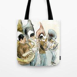 Sousaphone band Tote Bag