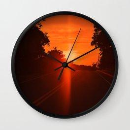 Heat Wave Wall Clock