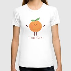 All Peachy Womens Fitted Tee White LARGE