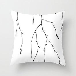 Betula pendula Throw Pillow