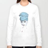 audrey Long Sleeve T-shirts featuring Audrey by Susana Miranda ilustración