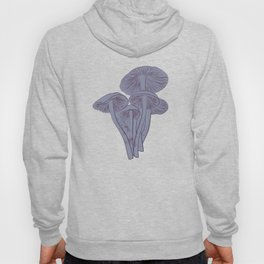 Delicious Autumn botanical poison IV // blue grey background Hoodie