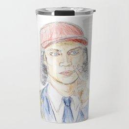 Holden Caulfield portrait Travel Mug