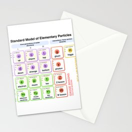 Physics - Standard Model of Elementary Particles - Physicist Stationery Cards