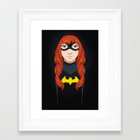 batgirl Framed Art Prints featuring Batgirl by SoLaNgE-scf