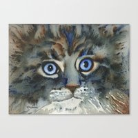 tim shumate Canvas Prints featuring Tim by Cat Art by Lori Alexander