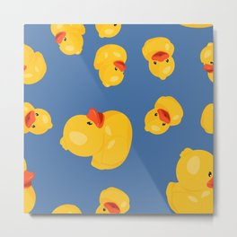Yellow rubber ducks. Metal Print
