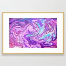 Holo Marble Framed Art Print