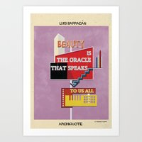 babina Art Prints featuring quote luis barragán by federico babina