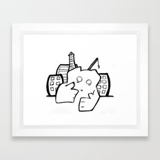 scourge of the city Framed Art Print