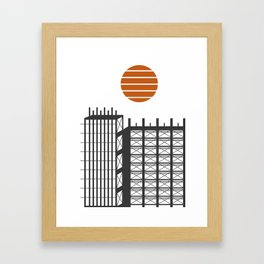 City in construction Framed Art Print