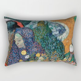 Memory of the Garden at Etten (Ladies of Arles) Rectangular Pillow