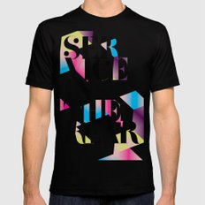 service in the rear Mens Fitted Tee Black MEDIUM