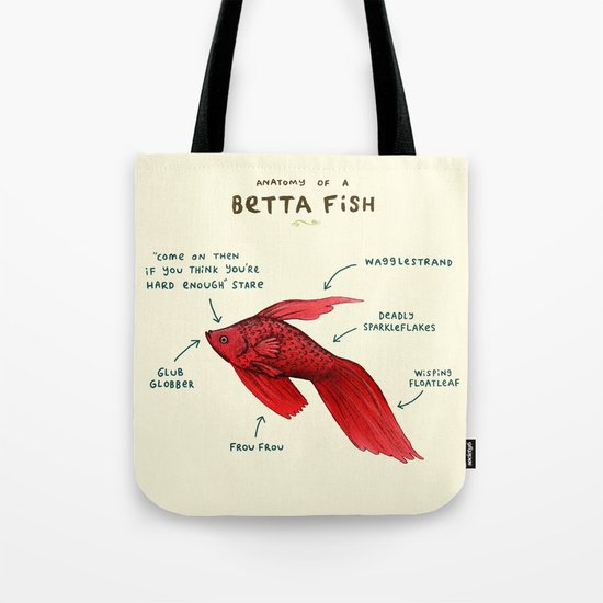 Anatomy of a Betta Fish Tote Bag
