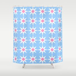 Stars 40- blue and pink Shower Curtain