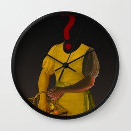 the truth is dead · ? Die Frau mit den Bananen Wall Clock