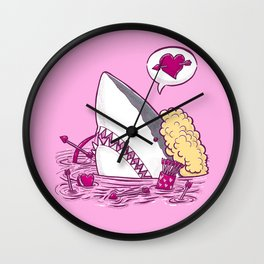 Cupid Shark in Water Wall Clock