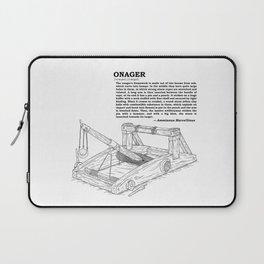 Onager Sketch [Black] Laptop Sleeve