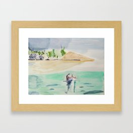 Lagon Framed Art Print