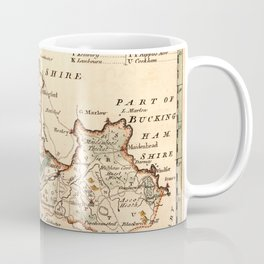 Map Of Berkshire 1758 Coffee Mug