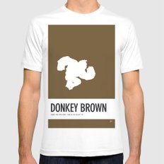 No37 My Minimal Color Code poster Donkey Kong White Mens Fitted Tee MEDIUM