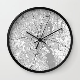 Providence Map Line Wall Clock