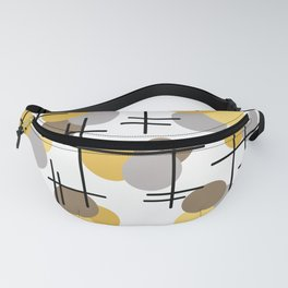 Atomic Age Molecules 4 Yellow Gold Brown Fanny Pack