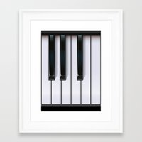 piano Framed Art Prints featuring Piano by rob art | illustration