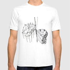 butterfly effect TWO White MEDIUM Mens Fitted Tee