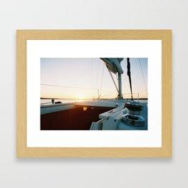 Sun Sail Framed Art Print