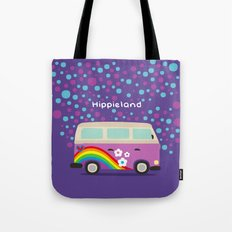 Hippie Land Tote Bag