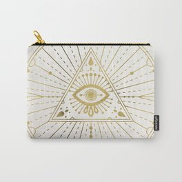 All-Seeing Eye Mandala – Gold Palette Carry-All Pouch