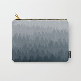 Blue Ombré Forest Carry-All Pouch
