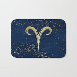 Aries Zodiac Sign Bath Mat