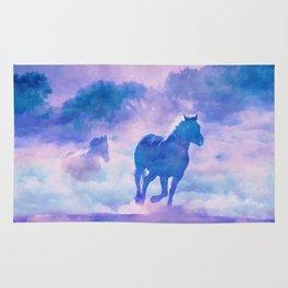 Horses run Rug