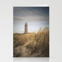 lighthouse Stationery Cards featuring Lighthouse  by Maria Heyens