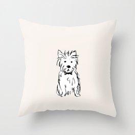 Milo the dog Throw Pillow